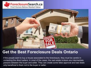 Get the Best Foreclosure Deals Ontario