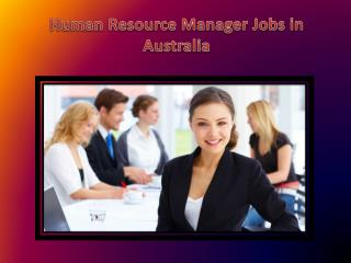 Human Resources Manager jobs in Australia