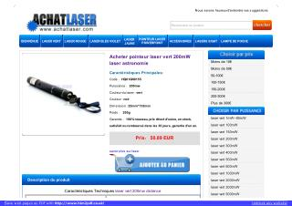HTPOW stylo laser vert 200mw