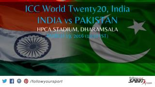 India vs Pakistan war news of 2016 World Cup t20 on Follow Your Sport