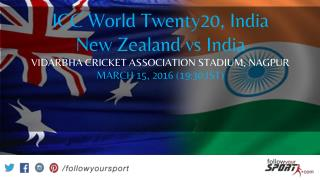 New Zealand vs India Twent Twenty  World Cup preview on Follow Your Sport