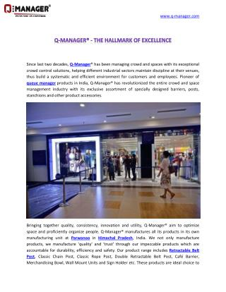 Q-Manager® - The Hallmark of Excellence