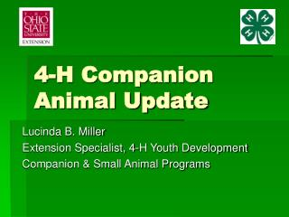 4-H Companion Animal Update