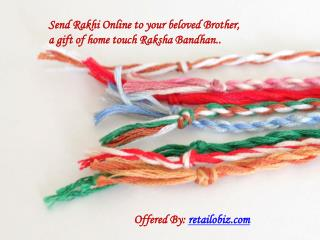 Send Rakhi online all over the World online presented by Retailobiz