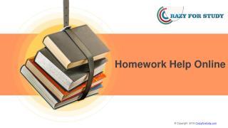 Homework Help Online | Crazyforstudy