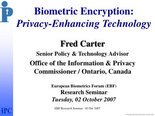 EBF Research Seminar - 02 Oct 2007