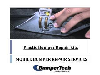 Plastic bumper repair kits