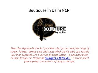 Best Boutiques in Delhi NCR Noida