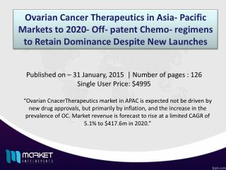 Ovarian Cancer Therapeutics in APAC Market Forecast & Future Industry Trends