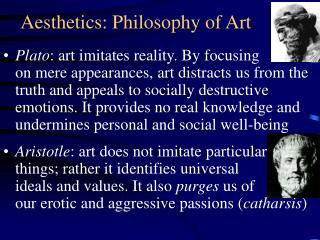 Aesthetics: Philosophy of Art