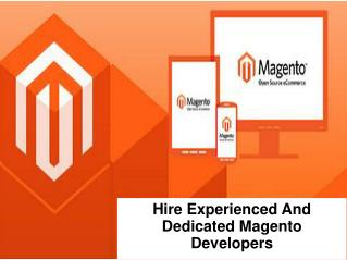 Hire Experienced And Dedicated Magento Developers