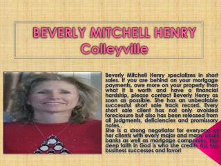 Beverly Mitchell Henry of Colleyville, Tx