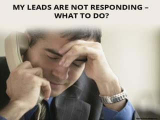 My Leads don't respond: What to Do?