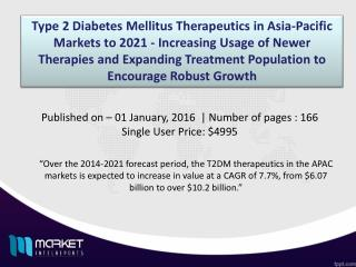 Type 2 Diabetes Mellitus Therapeutics in APAC Market Forecast & Future Industry Trends
