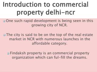Know  commercial property in delhi ncr investment tips