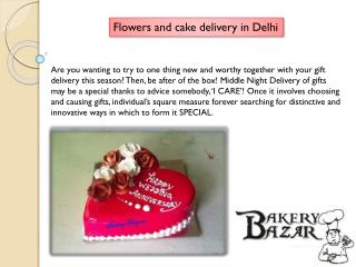 Provide flower and cake service online