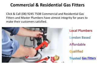 Commercial & Residential Gas Fitters