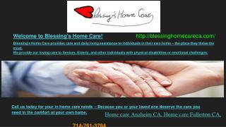 Senior Home Care, Meal preparation for seniors and Senior Care giving Anaheim and Fullerton CA