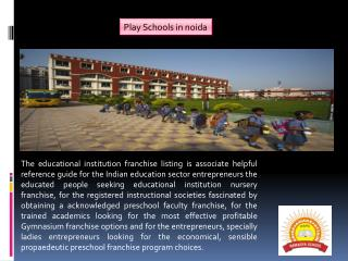 International Play Schools in noida