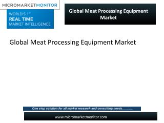 Stunning growth of Meat Processing Equipment Market