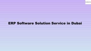 ERP Software Solution Service in Dubai