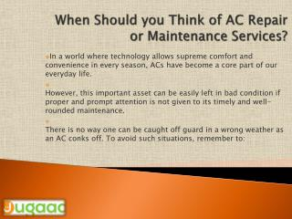 Choose AC maintenance services