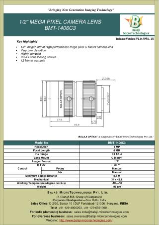 BALAJI OPTICS | LARGE FORMAT F-MOUNT LENSES | MACHINE VISION | INDIA
