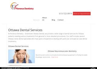 Best & Cheap Downtown Ottawa Dental Services by Dental Specialists