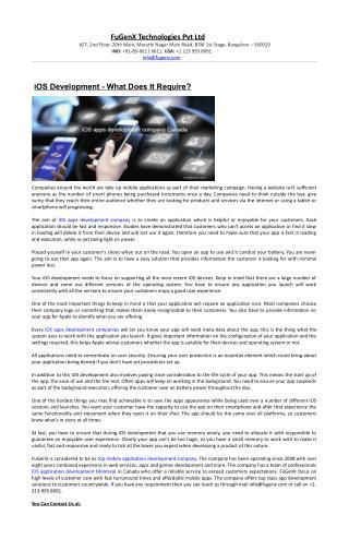 Mobile application development Canada