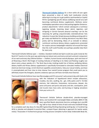 Thermocell Cellulite Defense