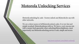 Motorola Unlocking Services Canada