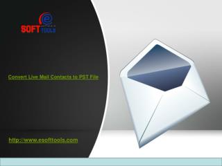 Convert Live Mail Contacts to PST