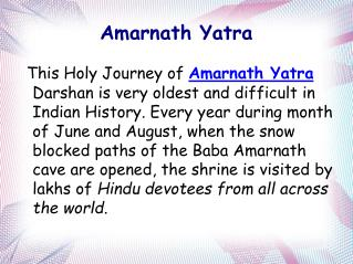 Affordable Cost for Amarnath Yatra Packages 2016