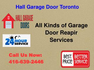 Garage Door Repair Toronto | 416-639-2446 | New Installation , Replacement Services