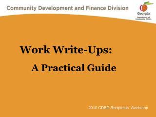 Work Write-Ups: