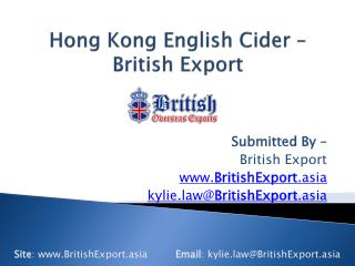 Hong Kong English Cider � British Export