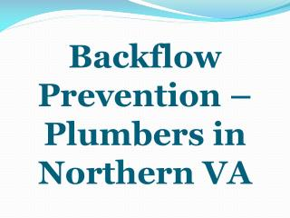 Backflow Prevention – Plumbers in Northern VA