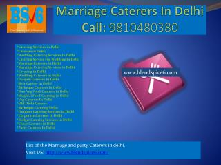 Marriage Caterers In Delhi, Wedding Catering Services In Delhi