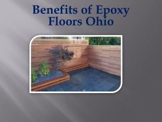 Benefits of Epoxy Floors Ohio