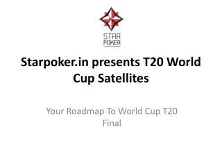 Starpoker.in presents T20 World Cup Satellites
