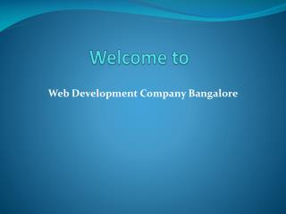Web development company Bangalore