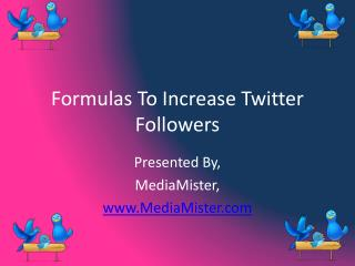 Formulas To Increase Twitter Followers