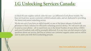Unlock LG Smartphone Services Canada