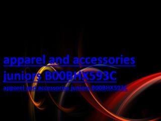 apparel and accessories juniors B00BHX593C