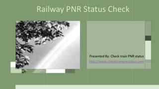 IRCTC PNR status check online