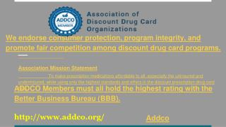 Discount Drug Card Association Benefits, Standards, Marketing Guidelines, Prescription and RX Card Organizations - NJ, N