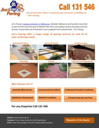 One of Australia's Most Trusted Paving Contractors in Melbourne – Jim's Paving