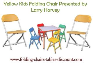Yellow Kids Folding Chair Presented by Larry Harvey