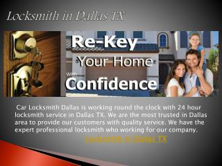 Locksmith in Dallas TX