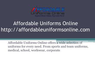 Custom Athletic Uniforms